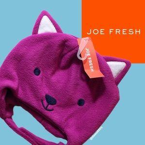 NWT Joe Fresh Fuchsia Animal Ear Fleece Hat